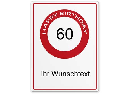 Happy-Birthday-Schild 60 Jahre
